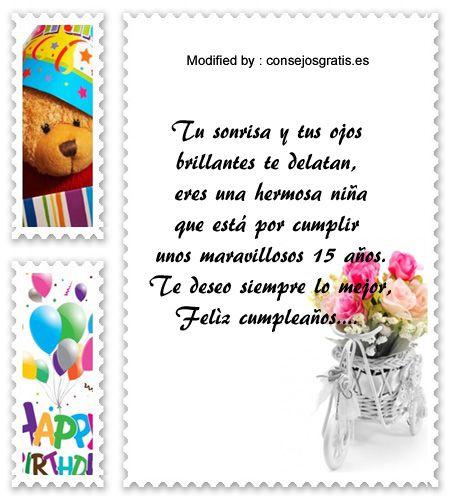descargar textos bonitos para quinceañera para Whatsapp,mensajes de texto para quinceañera: http://www.consejosgratis.es/lindos-mensajes-para-una-quinceanera/