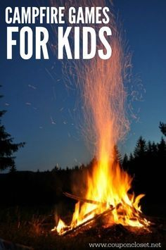 Here are some fun campfire games for kids that the entire family will enjoy. These camping games and campfire games for kids are free and fun to play.