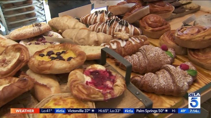 Crusty-Creamy Almond Croissants and you must try the chocolate twist! This edition of Burrous' Bites aired on the KTLA 5 Morning News, Sunday, Feb. 18th. 2018. Tell me what you think of the place. Email chris.burrous@ktla.com  Shoot me a little video review!  Breadologie  17517 Chatsworth St, Granada Hills, CA 91344