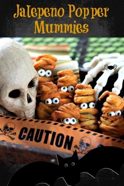 Jalepeño Popper Mummies - such a cute Halloween treat!