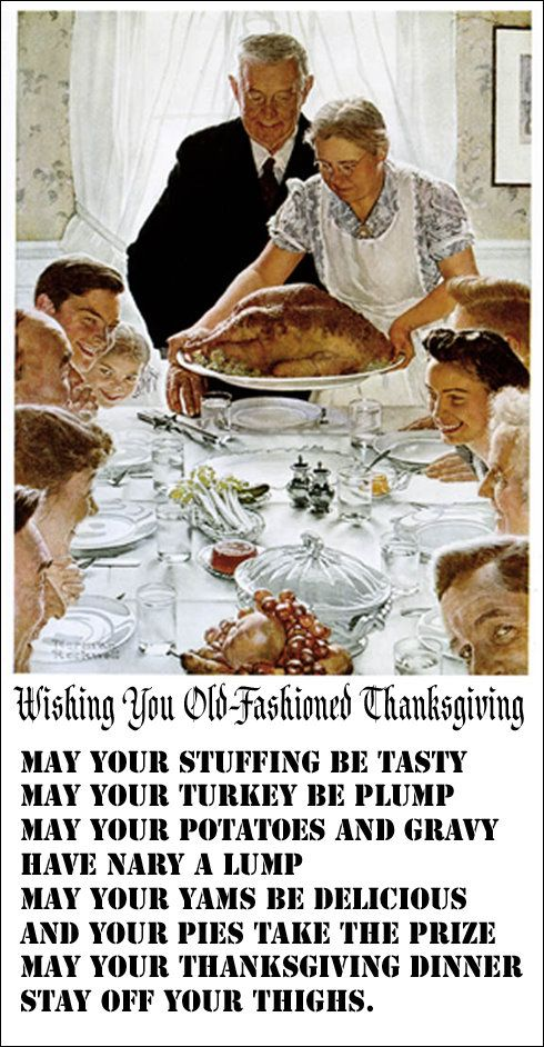 Happy Thanksgiving. Hope yours is classic.