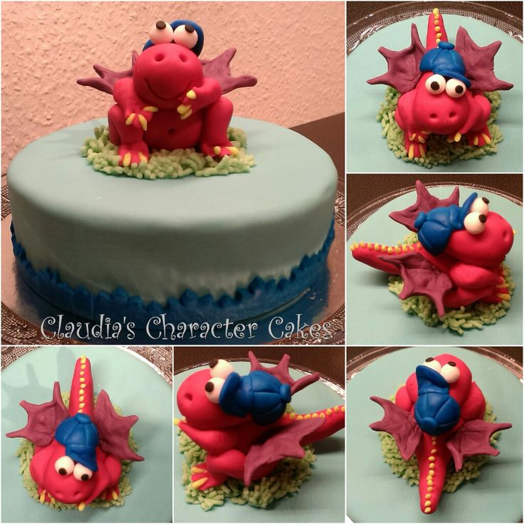 Kleiner Drache Kokosnuss Torte | Little Dragon Cake