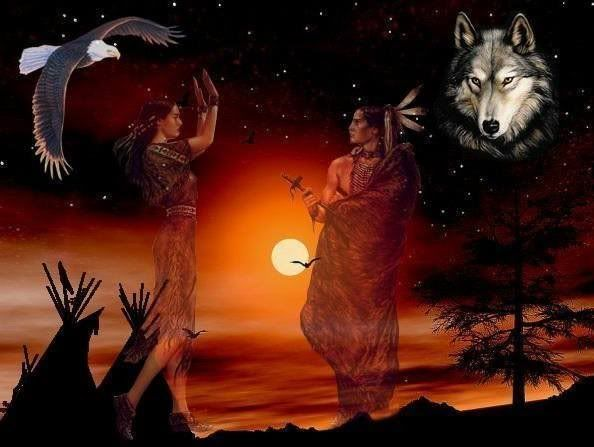 Native American Couples in Love | We Bless You: Two Bear Prayer to Heal his Eyes and his Heart
