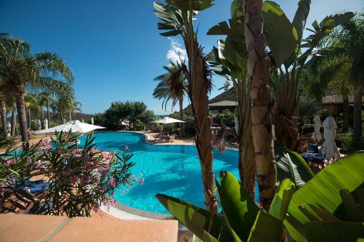 Pool at Cruccuris Resort, Sardinia