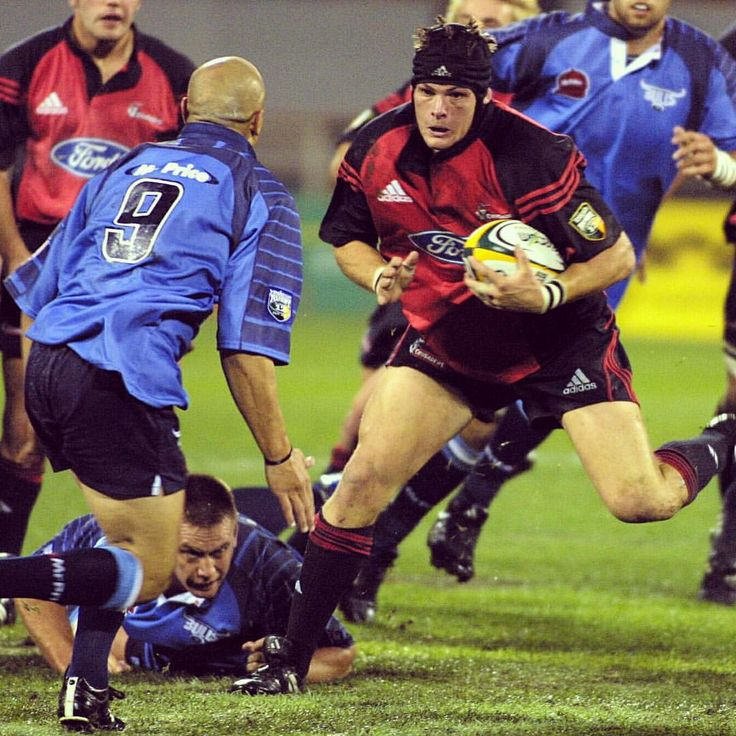 """Super Rugby on Instagram: """"Here's one from the vault! Richie McCaw runs at Norman Jordaan in a 2002 clash against the Bulls at Jade Stadium #SuperRugby #TBT"""""""