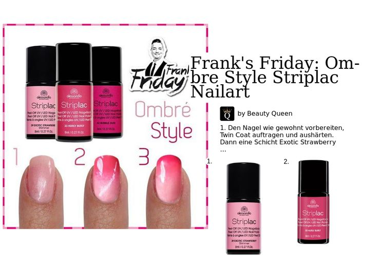 Frank's Friday: Ombre Style Striplac Nailart