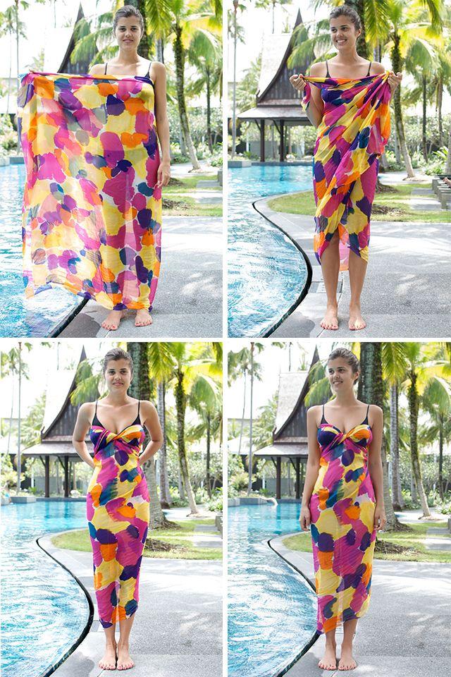 DIY Wrapped Beach Dress Tutorial - No Sew!