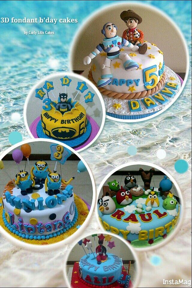 Fondant character cakes
