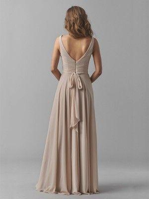 Bandeau jurk lang