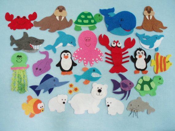 Aufregung in den Ozean Filz Board von JillyPooCreations auf Etsy