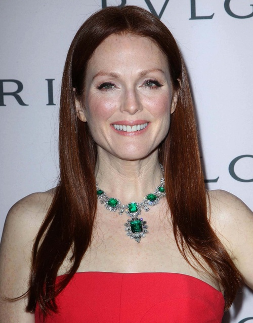 Julianne More with a stunning Emerald Necklace!