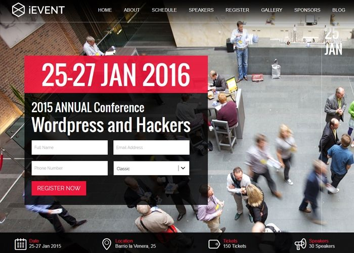 iEvent Wordpress | CSS Website