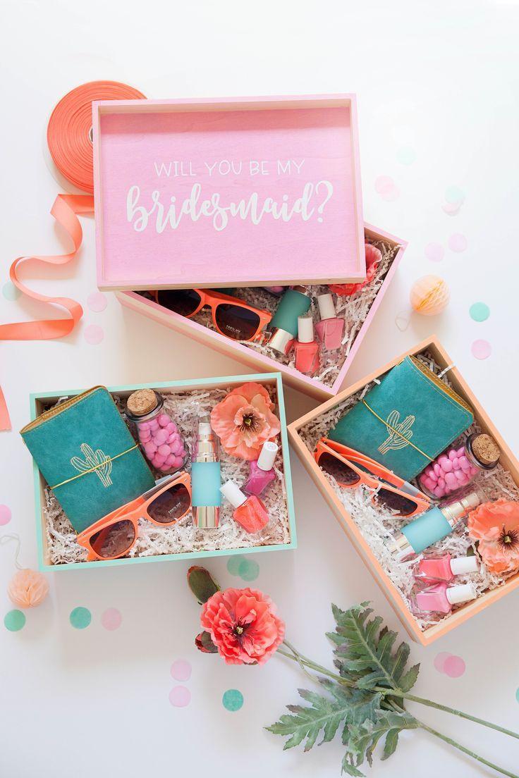 Diy Bridesmaid Gift Boxes Box Inspo Bridesmaid Gift Boxes Bride