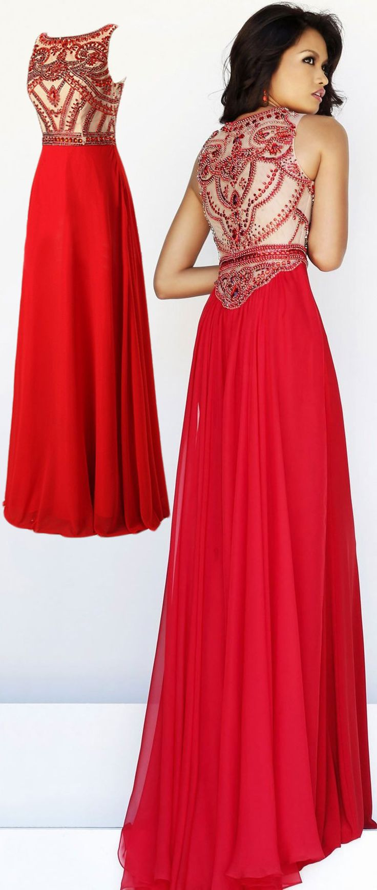 Sexy Beading Prom Dress, Backless Floor-length Long Prom Dress, Scoop Beaded Prom Dress Homecoming Dress Evening Party Dress Formal Dress,red evening dresses,backless evening dresses,cute prom dress
