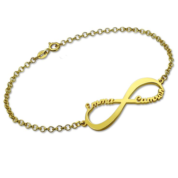 Infinity Name Bracelet Gold Color Personalized Name Bracelet Infinity Symbol Customized Name Bracelet Gift for Her