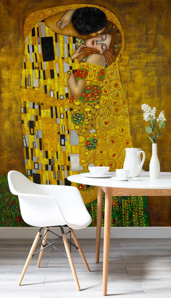 Gustav Klimt The Kiss Wall Mural | MuralsWallpaper.co.uk Part 44
