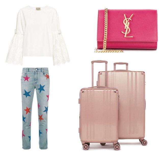 """Airport"" by isagarcia18 on Polyvore featuring moda, STELLA McCARTNEY, Sea, New York, CalPak y Yves Saint Laurent"