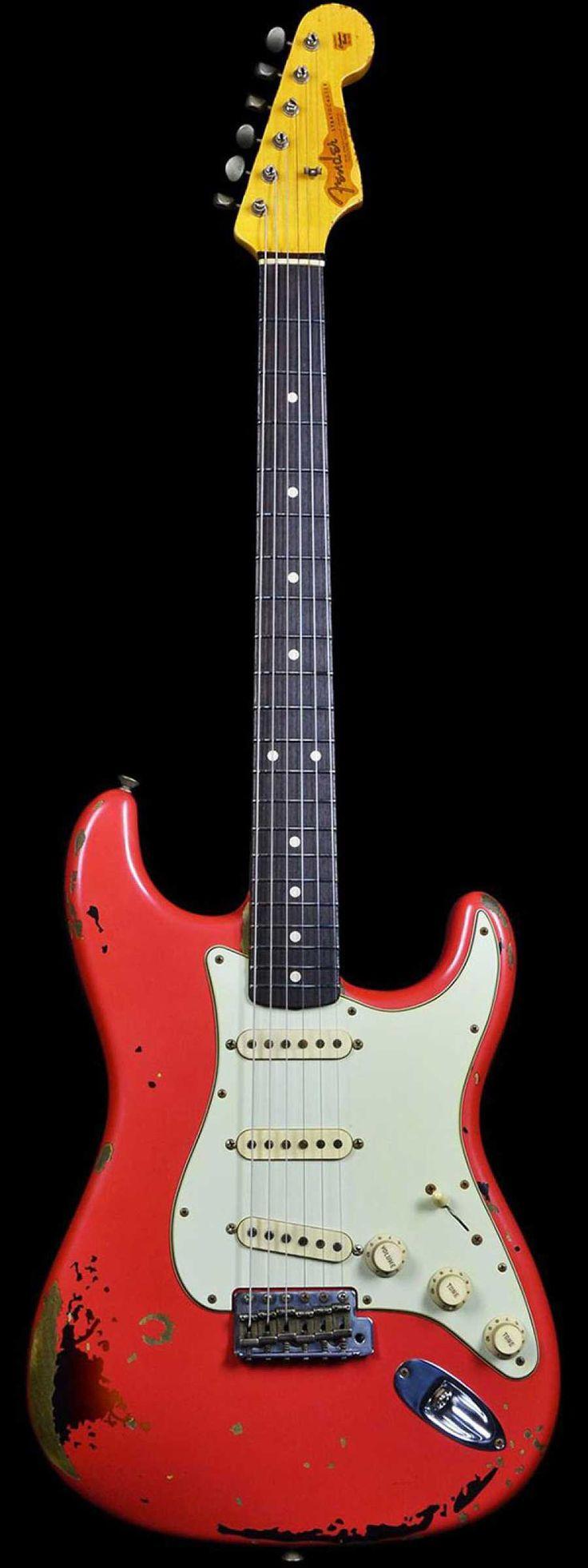 Fender Michael Landau Signature 1963 Relic Stratocaster Fiesta Red Over 3-Color Sunburst - Wild West Guitars