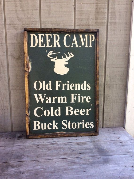 Hey, I found this really awesome Etsy listing at https://www.etsy.com/listing/252405193/deer-camp-wood-sign-hunting-sign-cabin