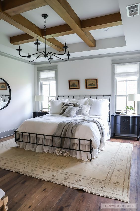 How To Decorate A Modern Farmhouse Bedroom On A Budget