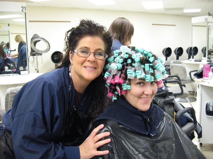 Mom giving Kara a perm at Cosmo School | Hair Favorites ...