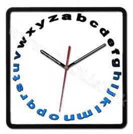 Nástenné hodiny Alphabet