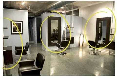 Check this article out withseveral examples of the use of ikea products in salons.