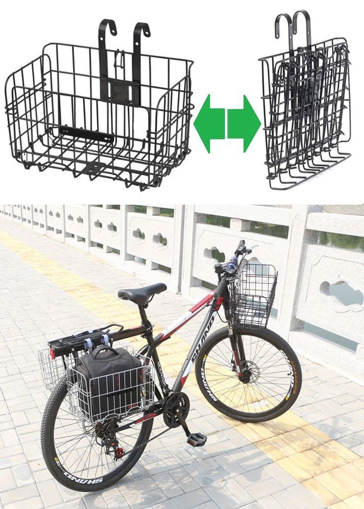 Details About Foldable Bicycle Grocery Basket Bike Collapsible