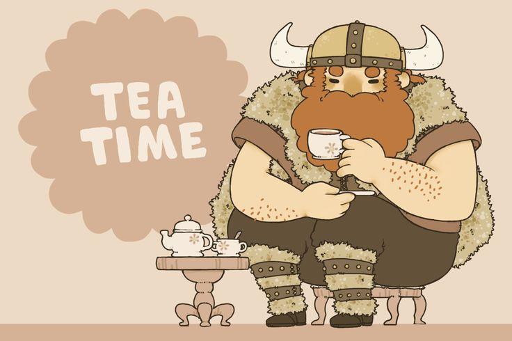 Tea Time by jamknight.deviantart.com on @DeviantArt