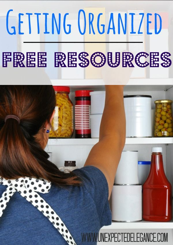 Getting Organized with FREE Printables-Labels-Resources