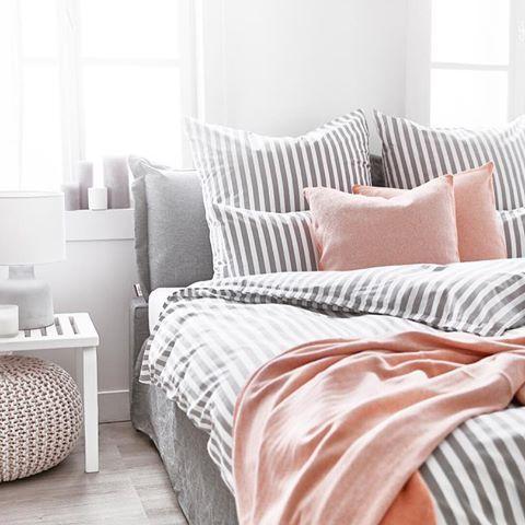 Die besten 25+ gestreifte Bettwäsche Ideen auf Pinterest Land