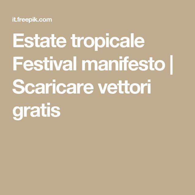 Estate tropicale Festival manifesto    Scaricare vettori gratis
