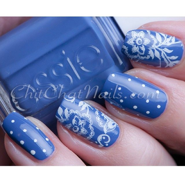 Nail art created by #ChitChatNails using our #SecretGarden nail plate…