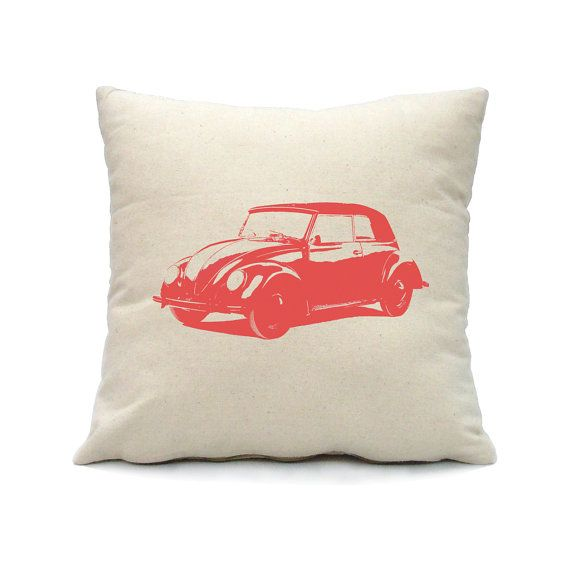 VW+Beetle+Car+Pillow+Cover++16x16+square++screen+by+smiletee,+$15.00