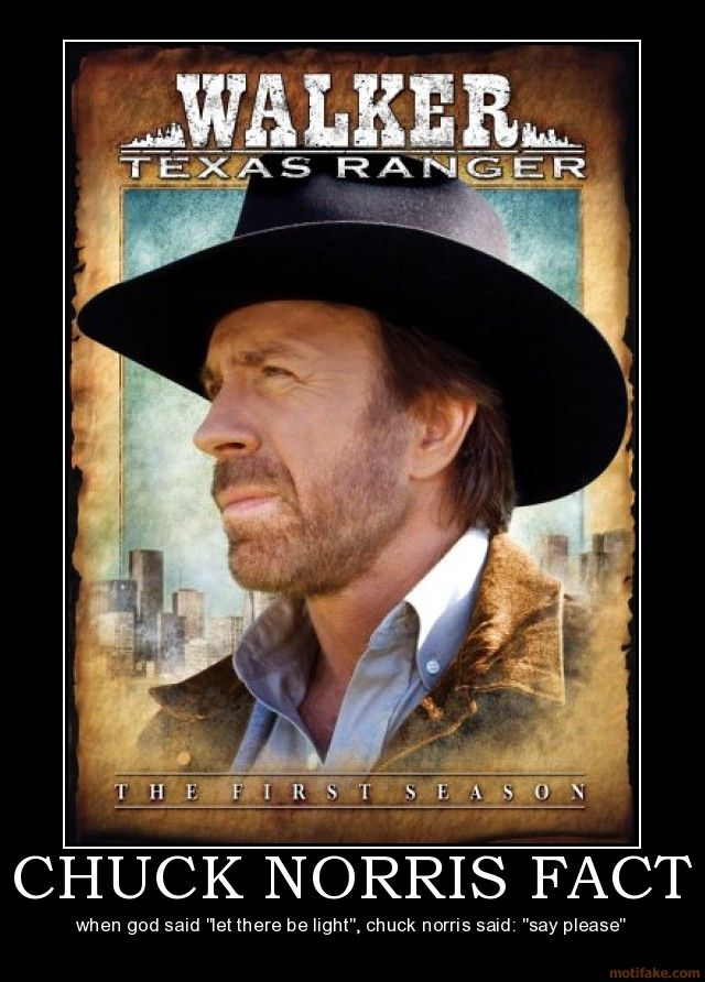 "When God said"" Let there be light"", Chuck Norris Said: ""Say Please"""
