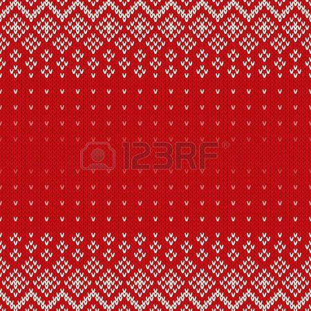 вязание: Fair Isle Стиль Бесшовные вязаный узор. Рождественские фон с местом для текста Иллюстрация