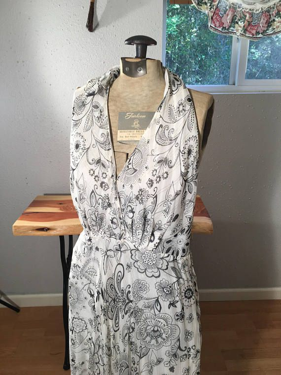 Party Dress Halter Too Dress Vintage Clothing