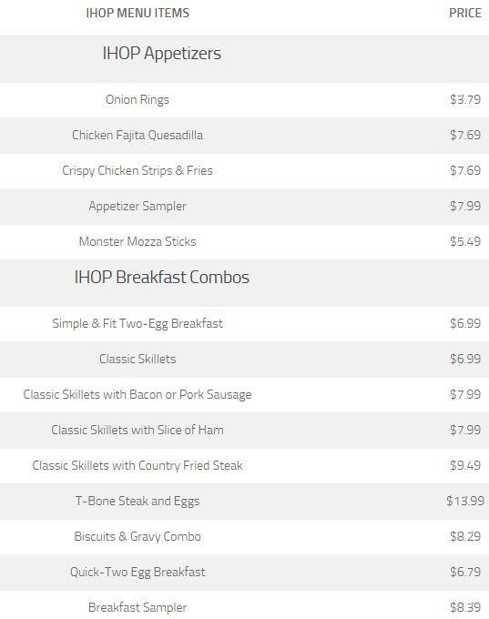 Ihop menu prices 2016, Ihop Menu and Free Pancakes Specials
