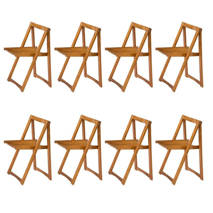 set of 8 folding chairs