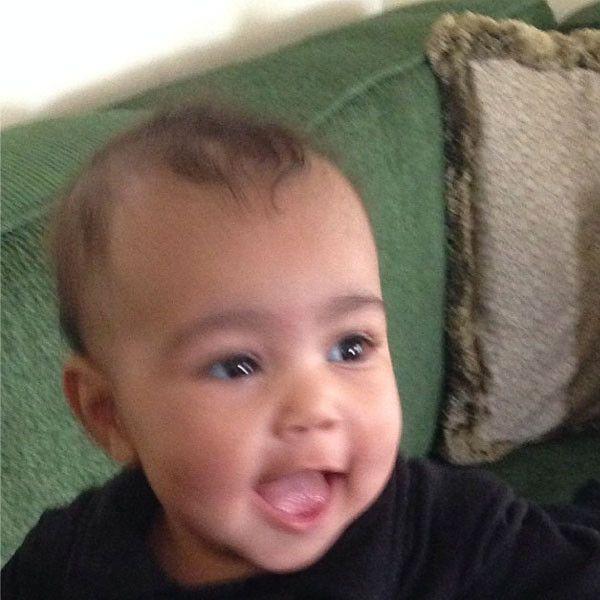 Kim Kardashian and baby North West