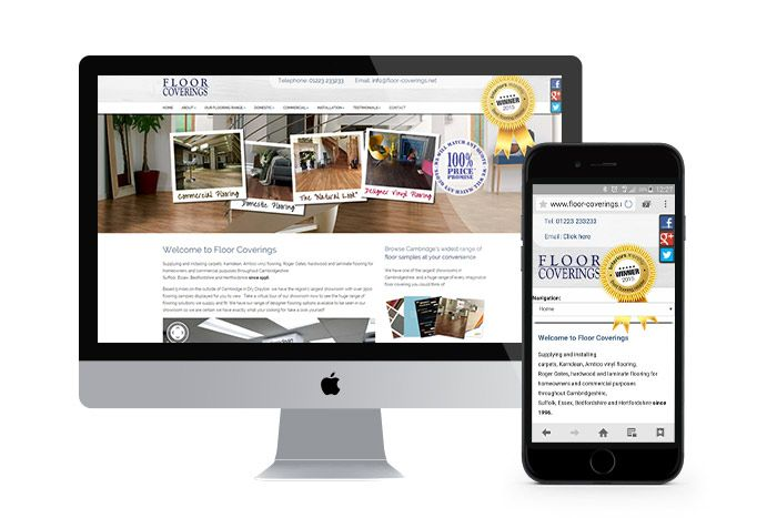 Responsive Web Design and ongoing SEO for Floor Coverings