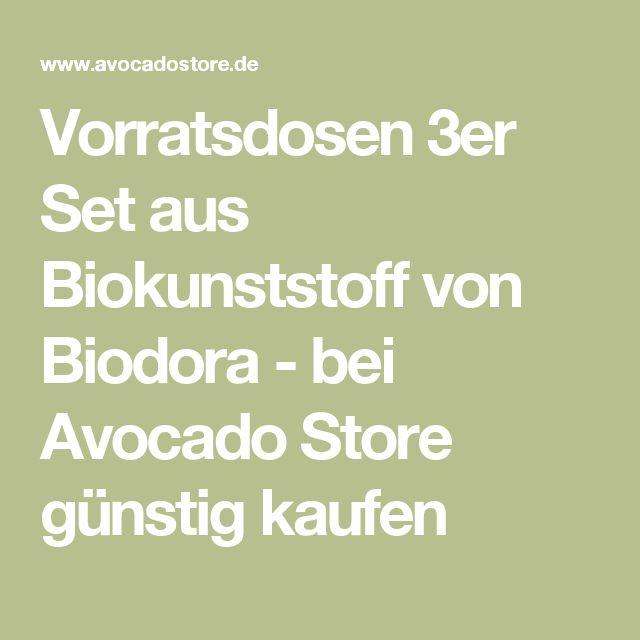 Vorratsdosen 3er Set aus Biokunststoff von Biodora - bei Avocado Store günstig kaufen