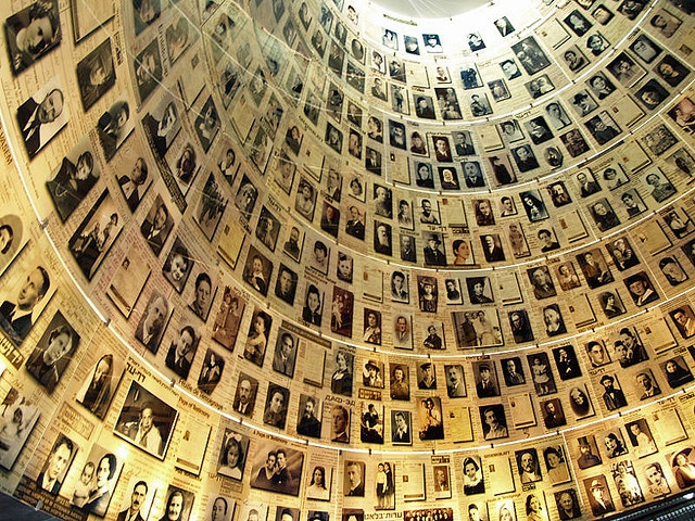 "Holocaust Museum, Israel.  This ""Hall of Names"" provides the names and some photos of the 6 million Jews who died in the Holocaust of WWII.  Sad, chilling, incredible."