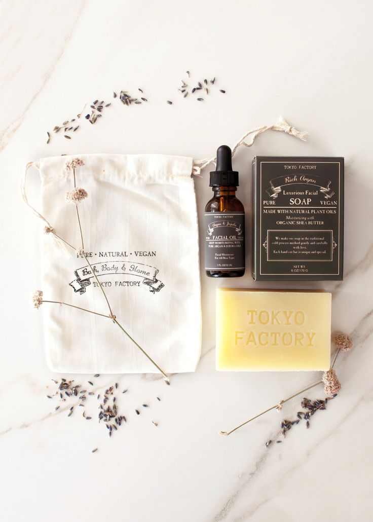 Facial Care Gift Set - Flat Rate Shipping - Natural Soap - Natural Facial Oil - Spa Gift Set - Wedding Favor - Bath Set by TOKYOFACTORY on Etsy