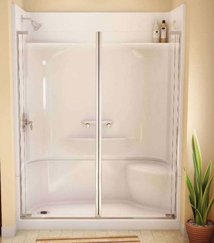 Best 25 shower units ideas on pinterest shower with tub corner shower units and small shower - Fiberglass shower enclosures ...