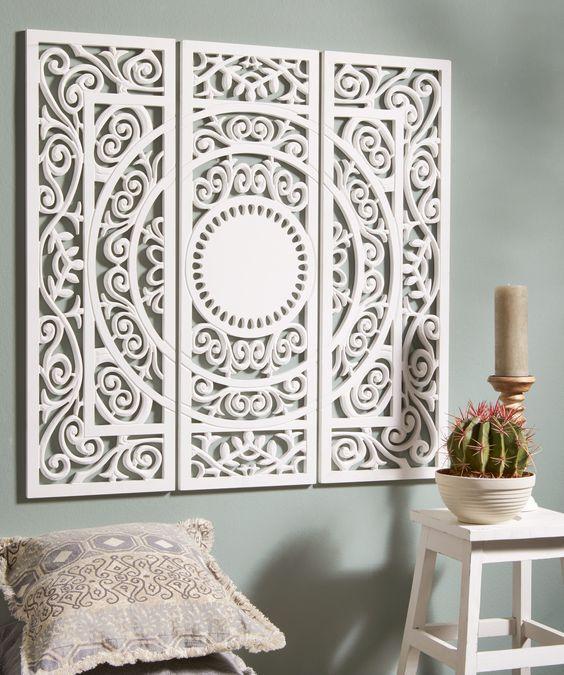 Met dit romantische, houten wandpaneel maak je van een saaie muur een echte…: