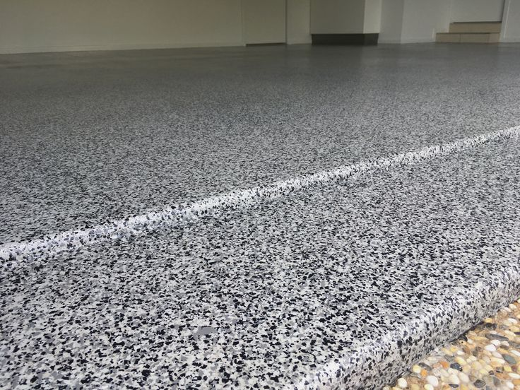 Brisbane City double garage  - epoxy flake flooring by The Garage Floor Co.