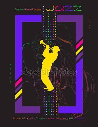 POP ART Jazz Pop Electronic Music Summer Festival 2018 music, jazz, pop, disco, dance, club, Holiday colorful modern poster, flyer, brochure cover layout vector set. Abstract composition with saxophone player. geometric dynamic shapes modern design template.– stock illustration