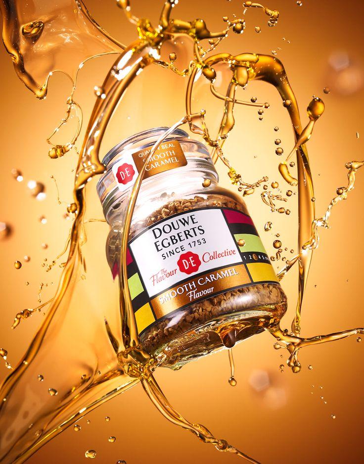 025 2 Still Life Product Photographer Pedersen food liquid beverage drink coffee splash water caramel sweet sugar golden aroma caffiene