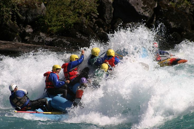 White water rafting, Chile
